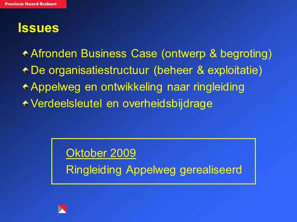Issues Afronden Business Case (ontwerp & begroting)