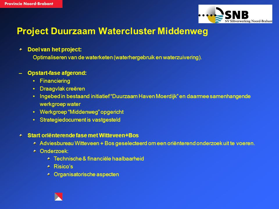 Project Duurzaam Watercluster Middenweg