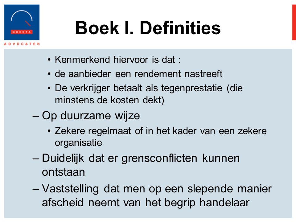 Boek I. Definities Op duurzame wijze