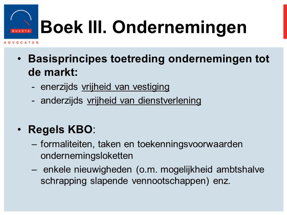 Boek III. Ondernemingen