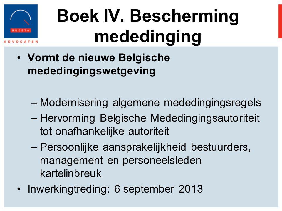 Boek IV. Bescherming mededinging
