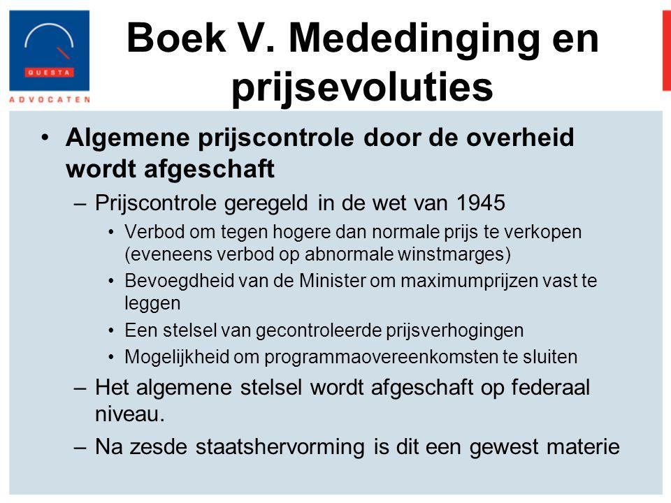 Boek V. Mededinging en prijsevoluties