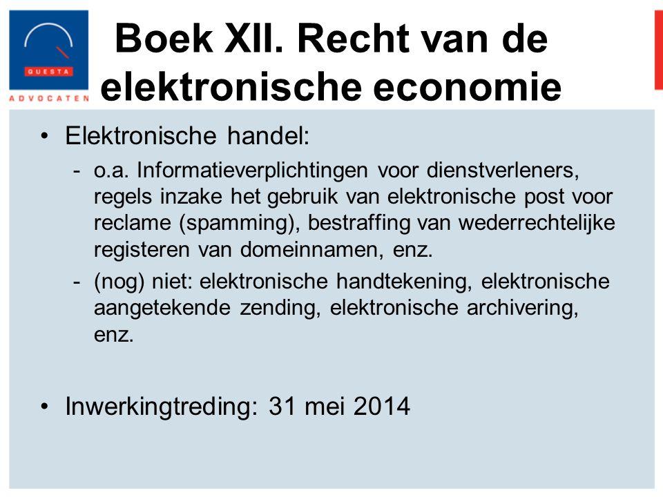 Boek XII. Recht van de elektronische economie