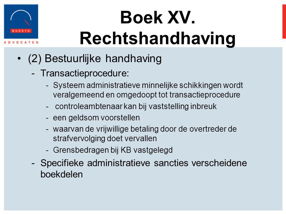 Boek XV. Rechtshandhaving