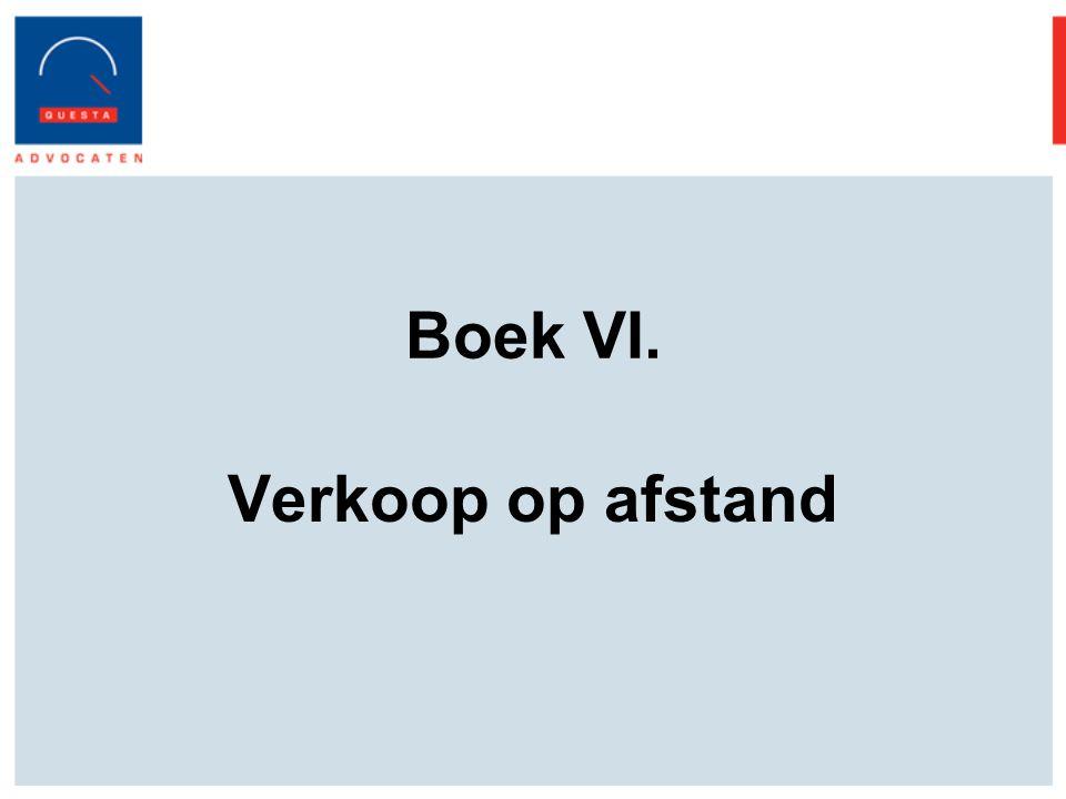 Boek VI. Verkoop op afstand