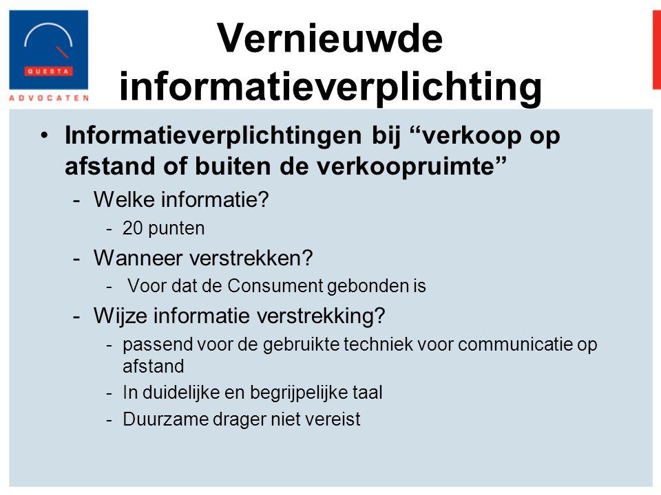 Vernieuwde informatieverplichting