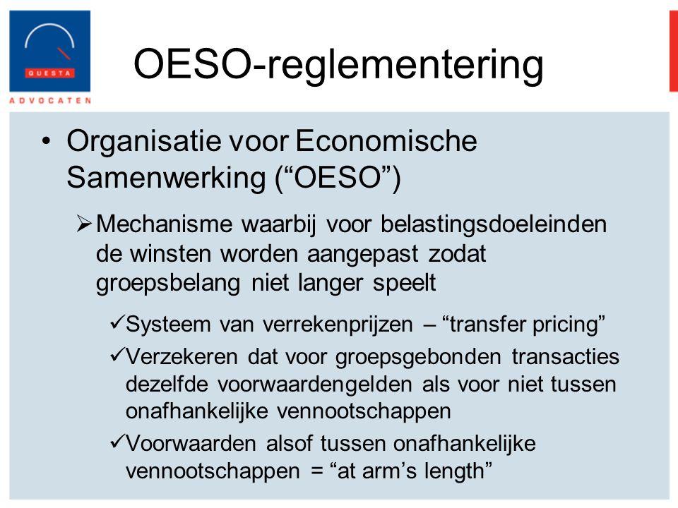 OESO-reglementering Organisatie voor Economische Samenwerking ( OESO )