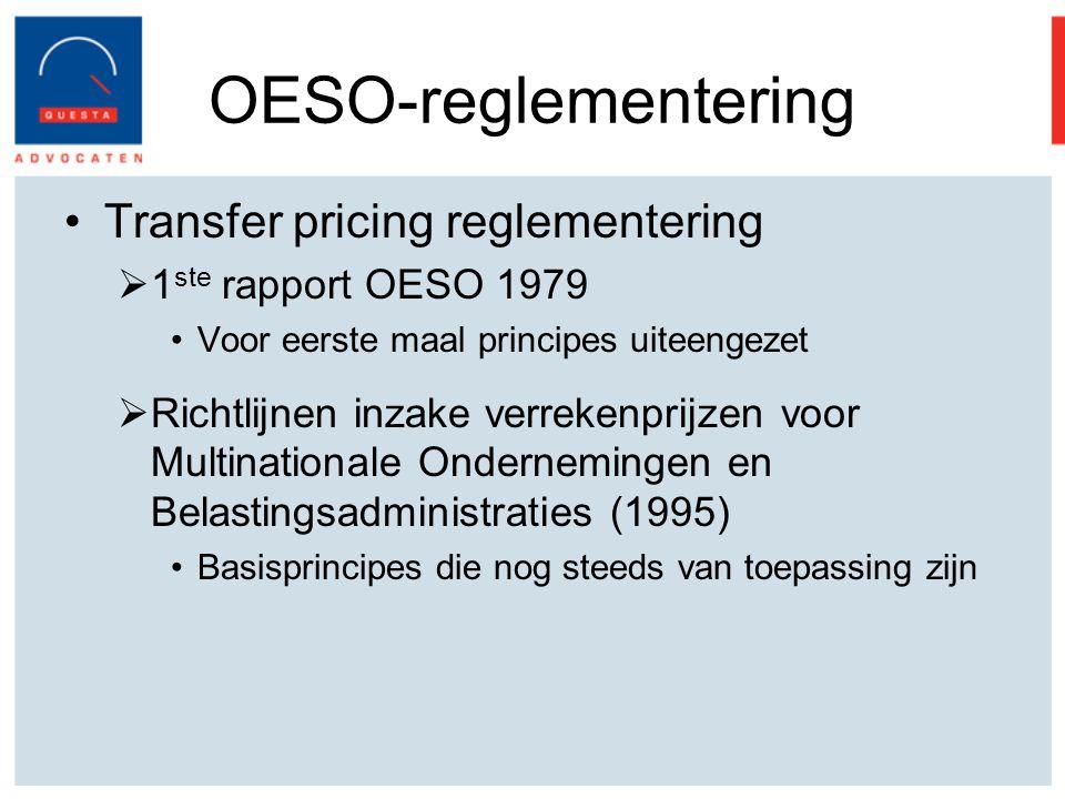 OESO-reglementering Transfer pricing reglementering