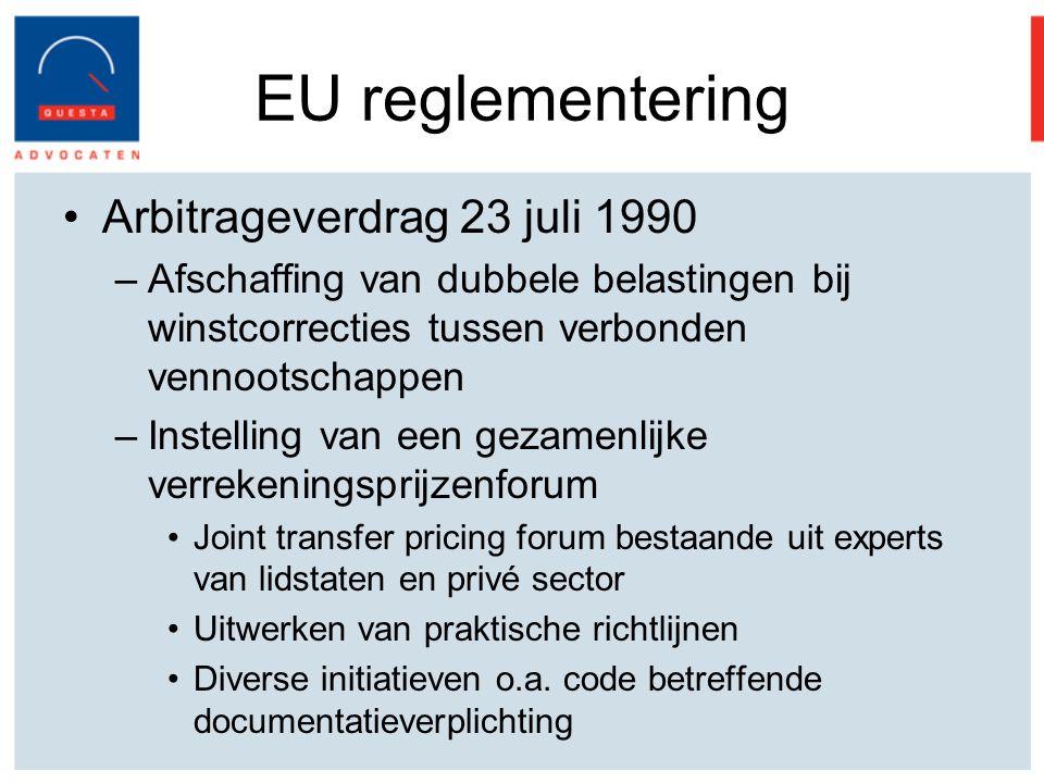EU reglementering Arbitrageverdrag 23 juli 1990