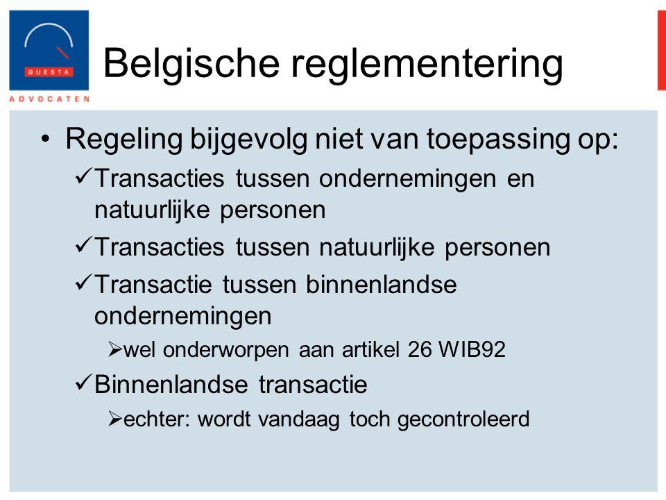 Belgische reglementering
