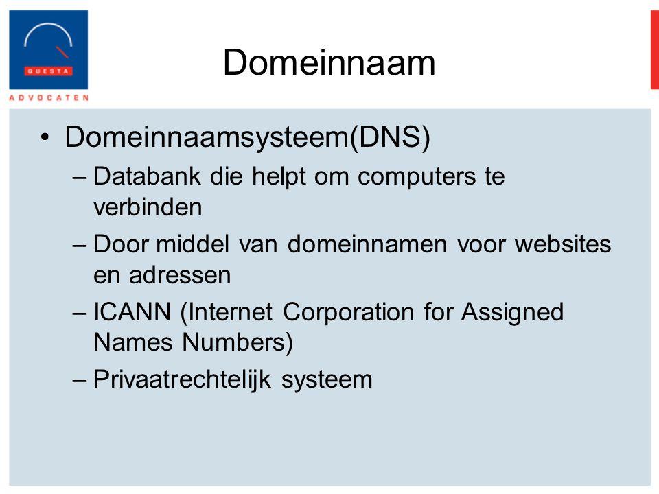 Domeinnaam Domeinnaamsysteem(DNS)