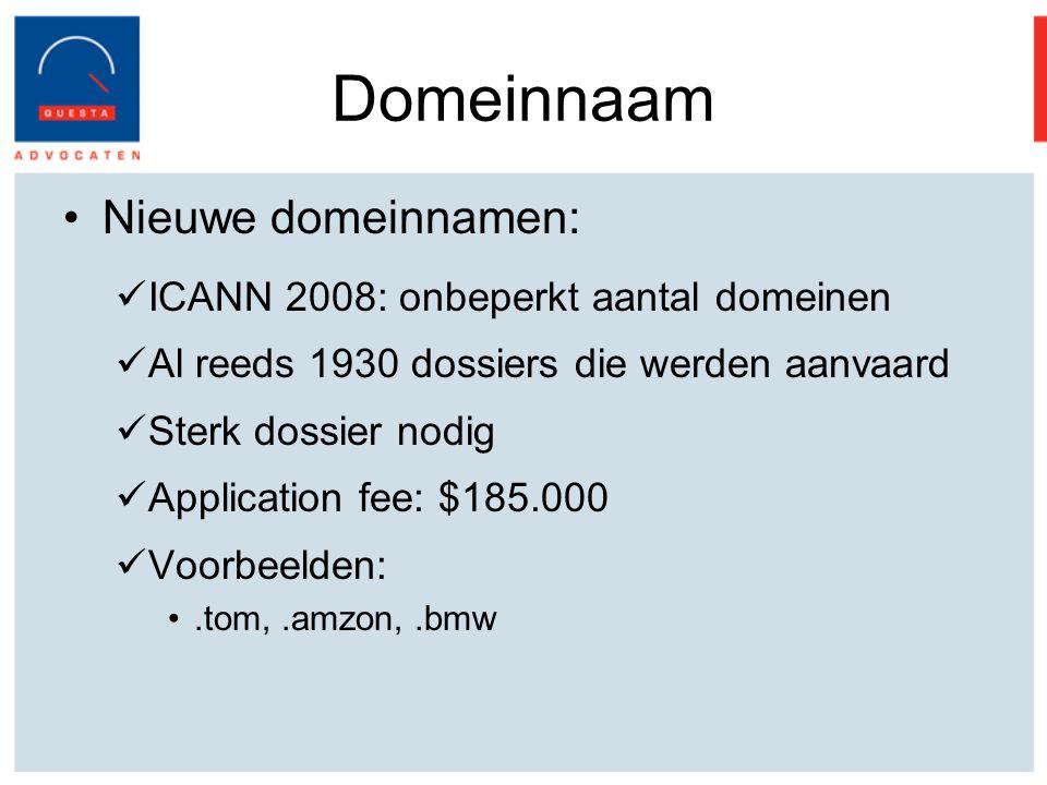 Domeinnaam Nieuwe domeinnamen: ICANN 2008: onbeperkt aantal domeinen