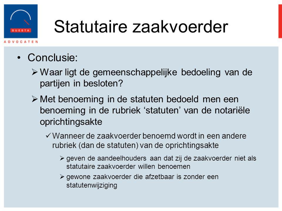 Statutaire zaakvoerder