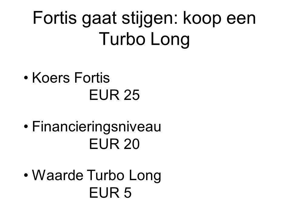 Fortis gaat stijgen: koop een Turbo Long