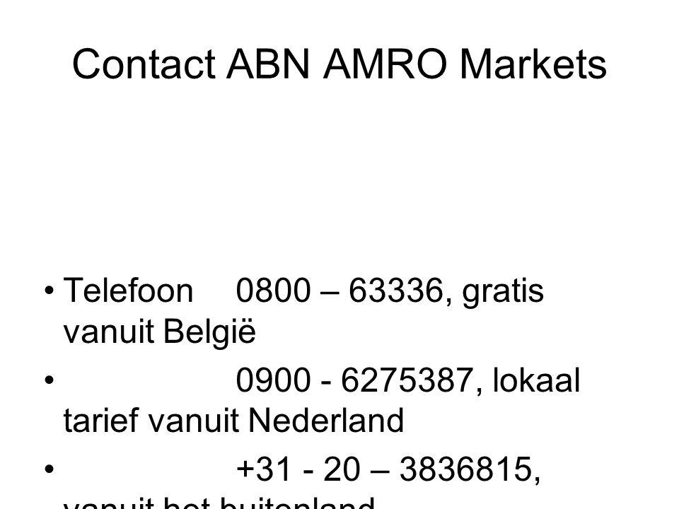 Contact ABN AMRO Markets