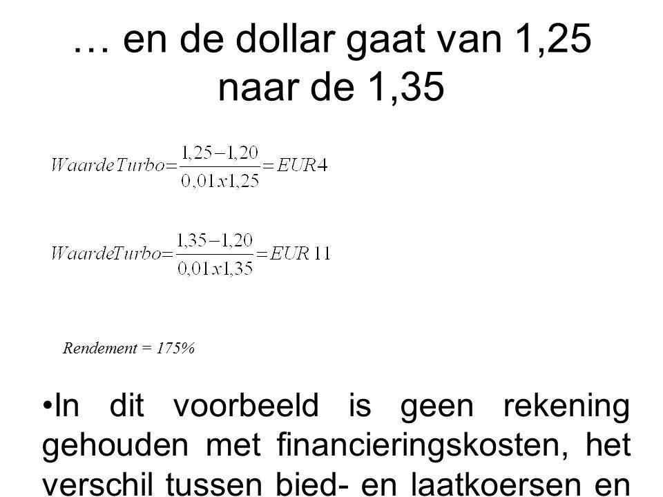 … en de dollar gaat van 1,25 naar de 1,35