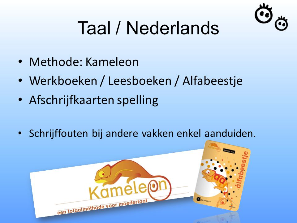 Taal / Nederlands Methode: Kameleon