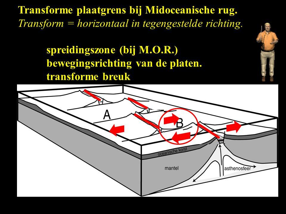 Transforme plaatgrens bij Midoceanische rug