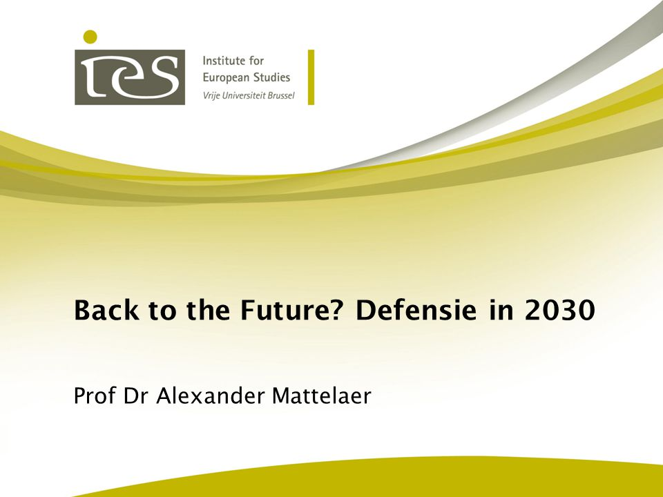Back to the Future Defensie in 2030