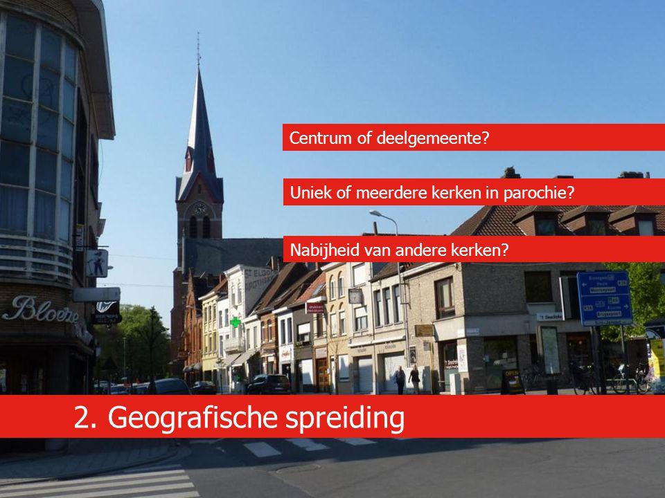 2. Geografische spreiding