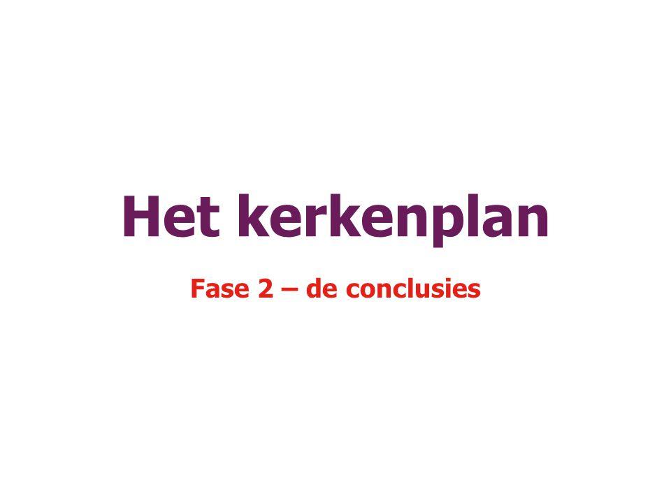 Het kerkenplan Fase 2 – de conclusies