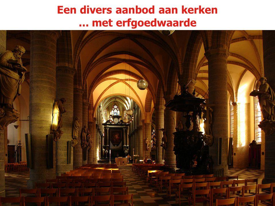 Een divers aanbod aan kerken