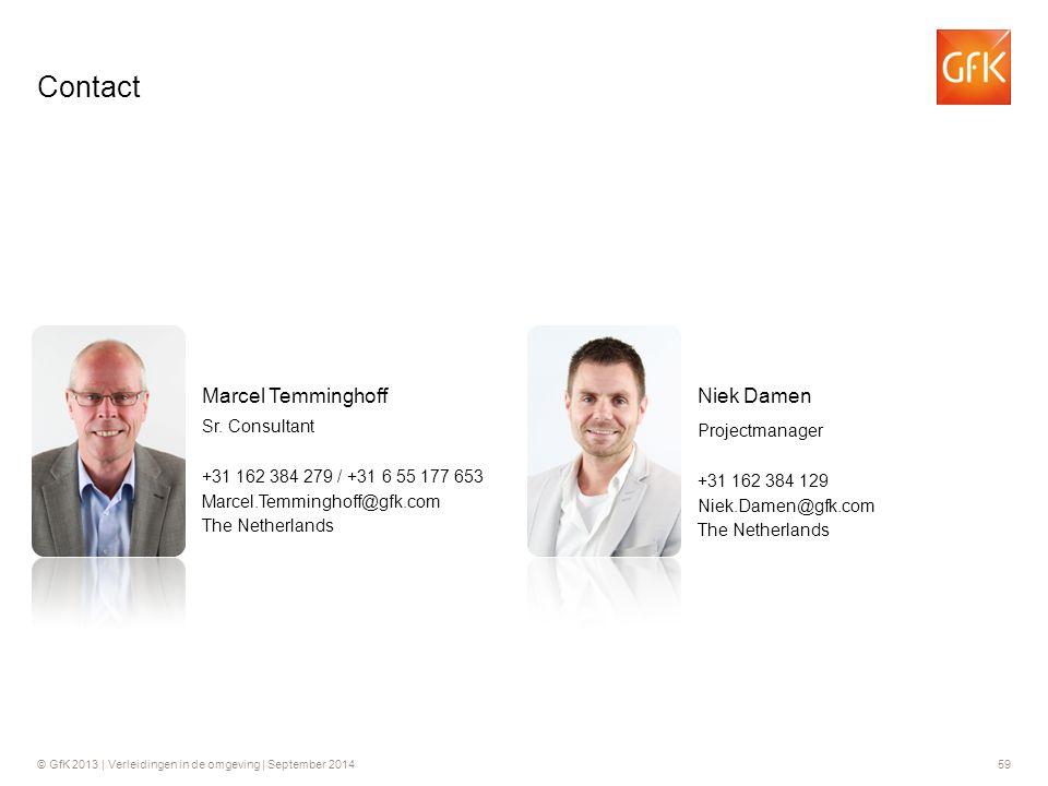 Contact Niek Damen Marcel Temminghoff Projectmanager Sr. Consultant