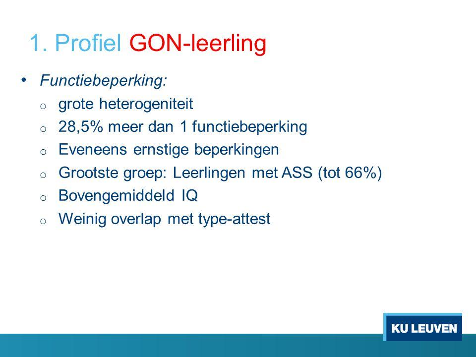 1. Profiel GON-leerling Functiebeperking: grote heterogeniteit
