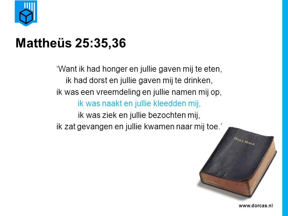 Mattheüs 25:35,36