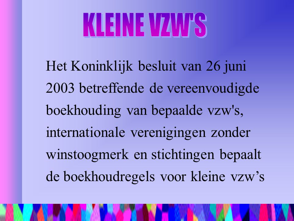 KLEINE VZW S