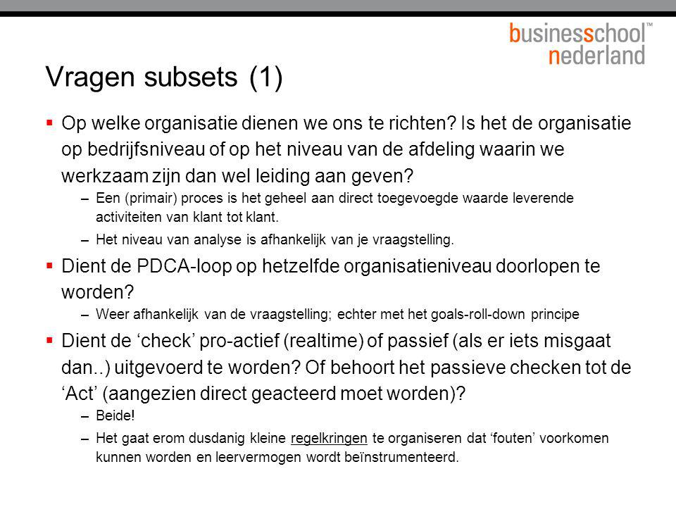 Vragen subsets (1)