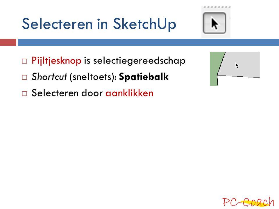 Selecteren in SketchUp
