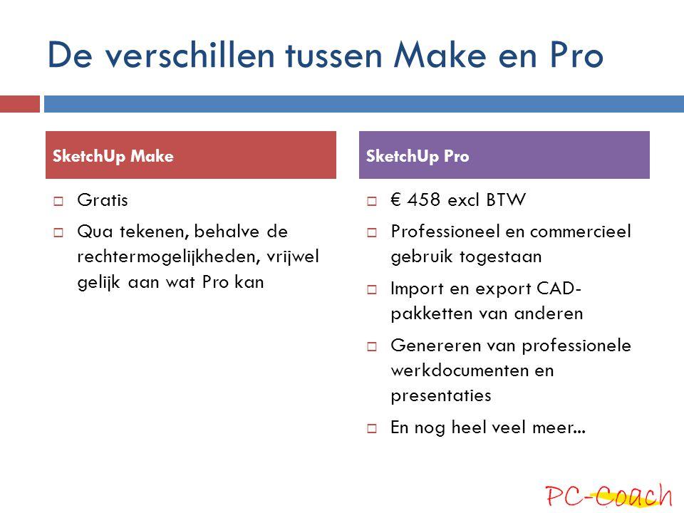 De verschillen tussen Make en Pro