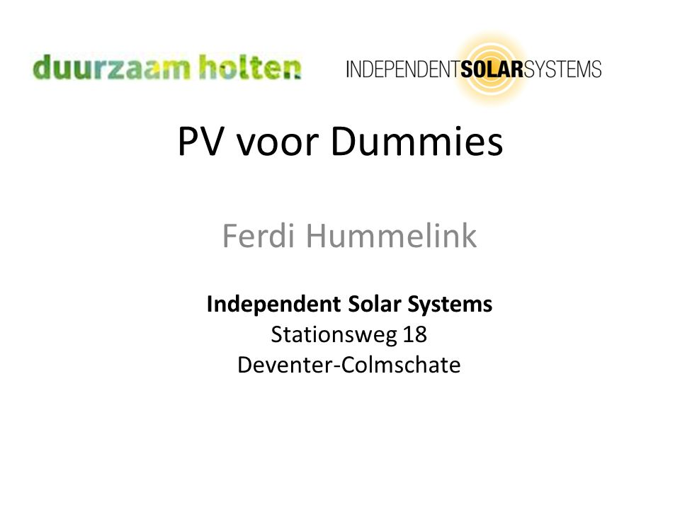 Independent Solar Systems