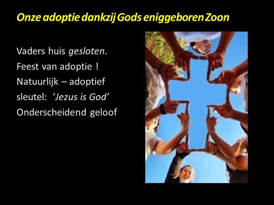 Onze adoptie dankzij Gods eniggeboren Zoon