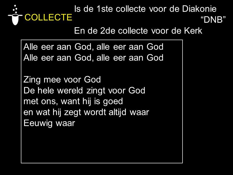 Is de 1ste collecte voor de Diakonie
