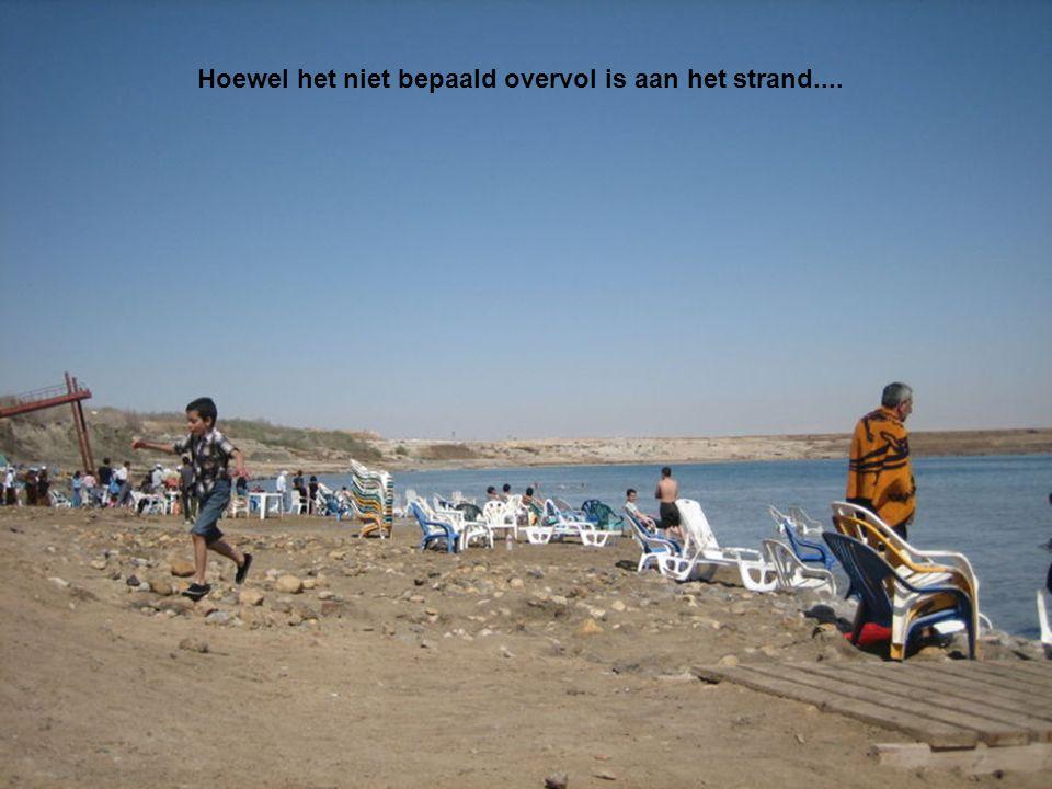 Hoewel het niet bepaald overvol is aan het strand....