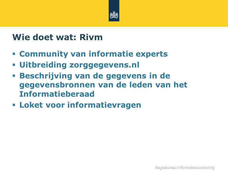Wie doet wat: Rivm Community van informatie experts
