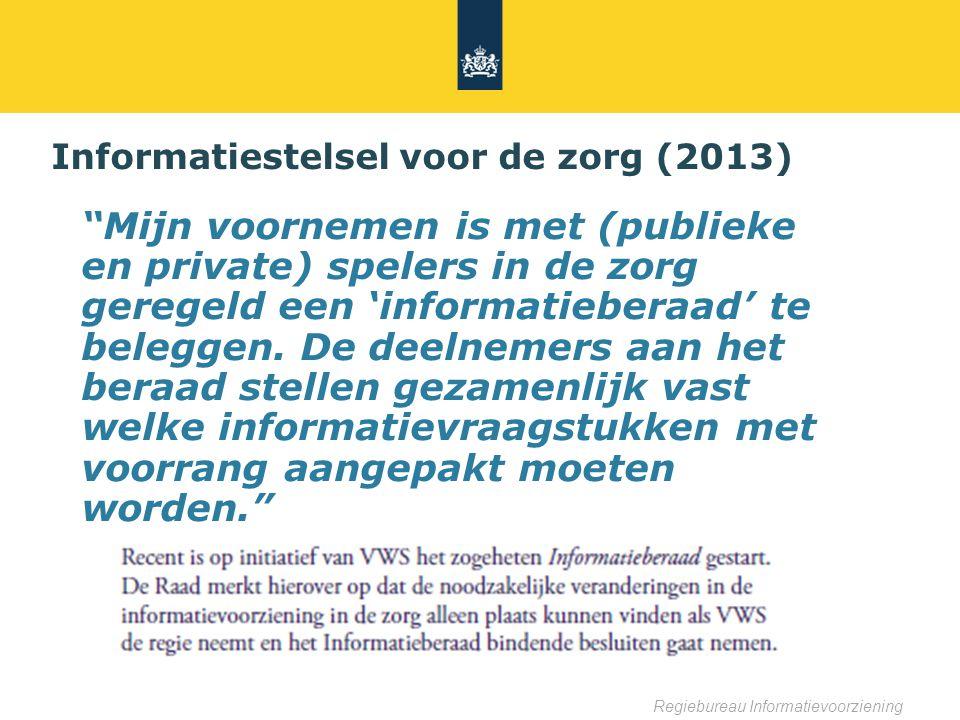 Informatiestelsel voor de zorg (2013)