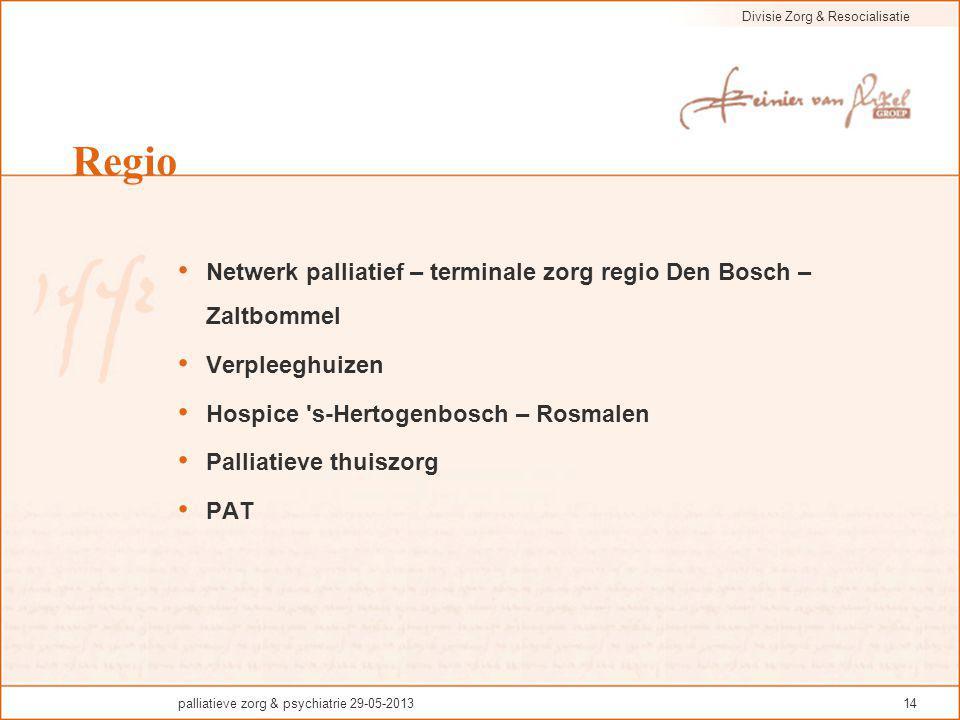 Regio Netwerk palliatief – terminale zorg regio Den Bosch – Zaltbommel