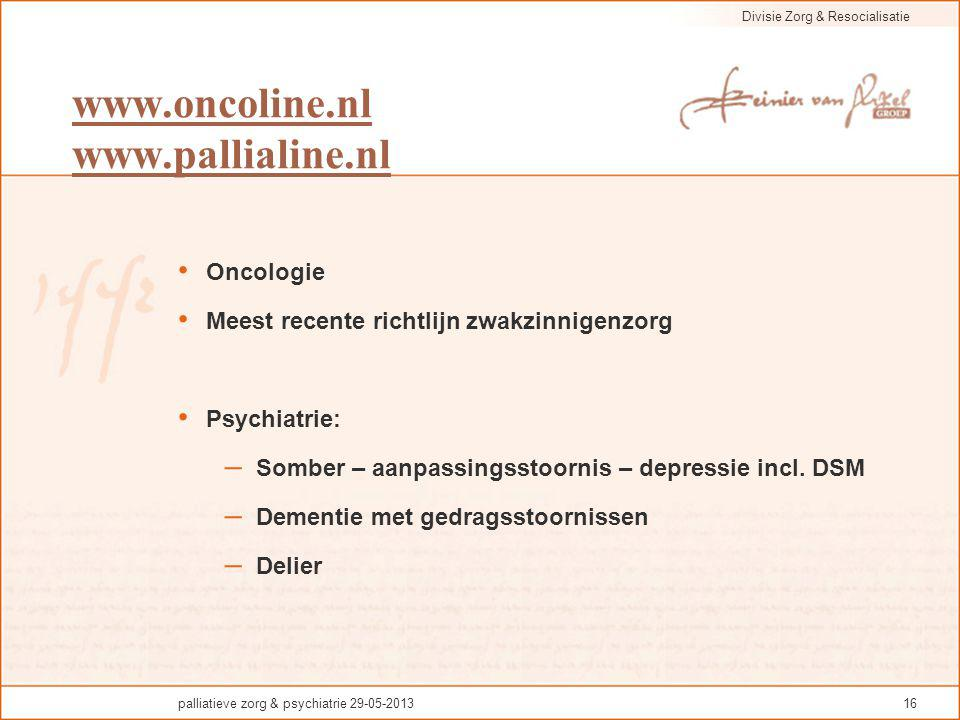 www.oncoline.nl www.pallialine.nl