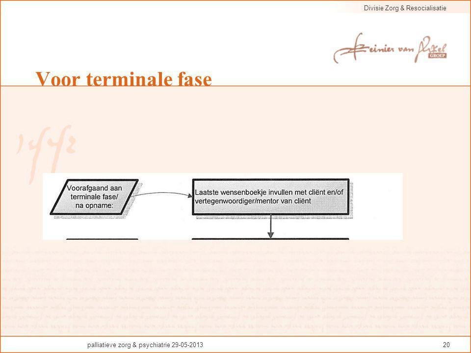 Voor terminale fase palliatieve zorg & psychiatrie 29-05-2013