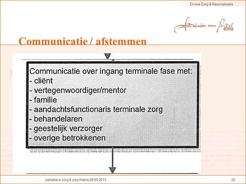 Communicatie / afstemmen