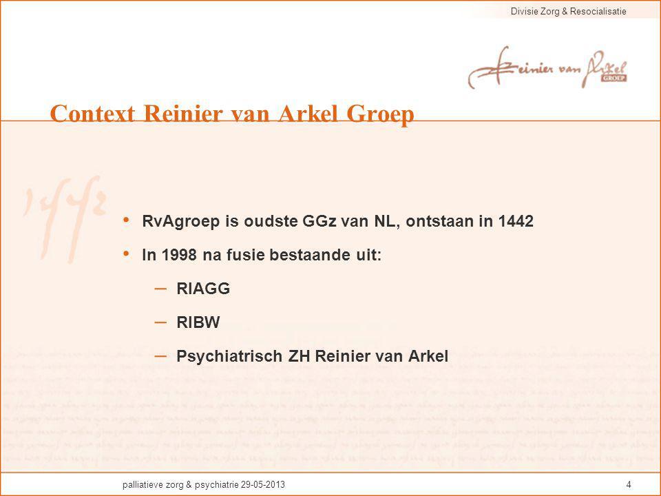 Context Reinier van Arkel Groep