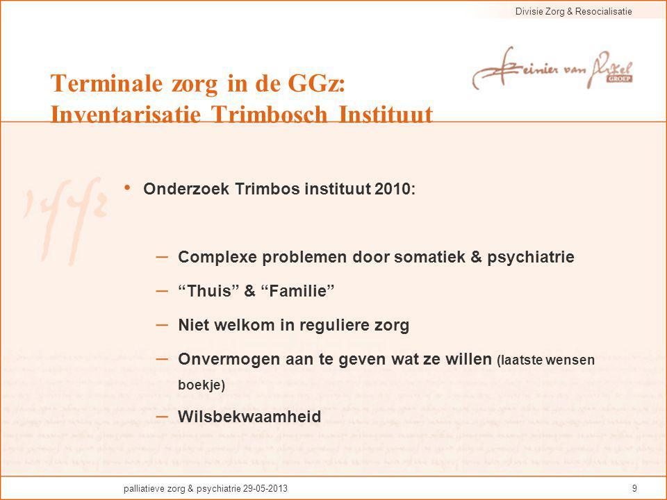 Terminale zorg in de GGz: Inventarisatie Trimbosch Instituut