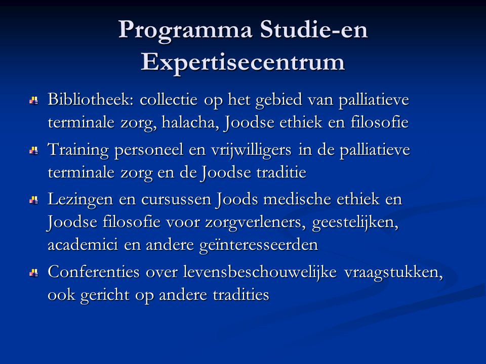 Programma Studie-en Expertisecentrum