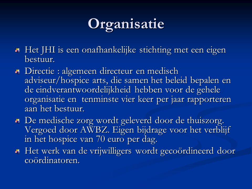 Organisatie Het JHI is een onafhankelijke stichting met een eigen bestuur.