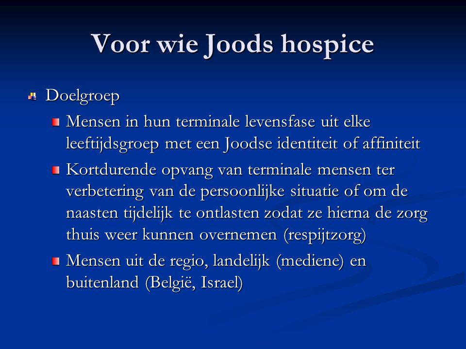 Voor wie Joods hospice Doelgroep