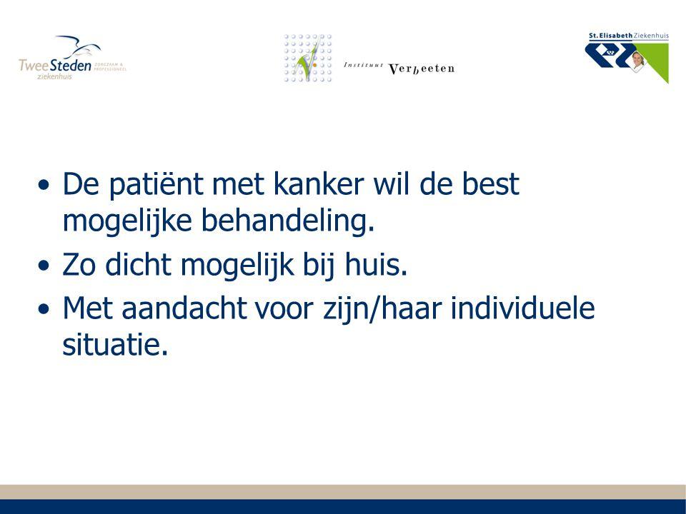De patiënt met kanker wil de best mogelijke behandeling.