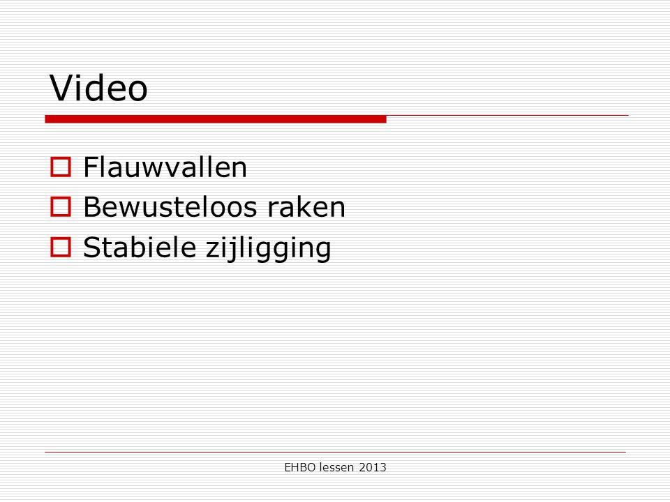 Video Flauwvallen Bewusteloos raken Stabiele zijligging